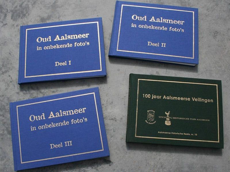 Historische fotoboeken over Aalsmeer en 100 jaar Aalsmeerse veilingen